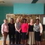 (L-R): Rebecca Smyth, Dr. Margaret Maimbolwa, Prof. Dame Tina Lavender, Prof. Grace Omoni, Carol Bedwell & Dr. Christina Rawdon